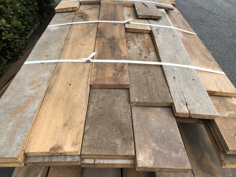 Louis XIII Original French Antique Solid Wood Oak Flooring, France, 18th Century For Sale