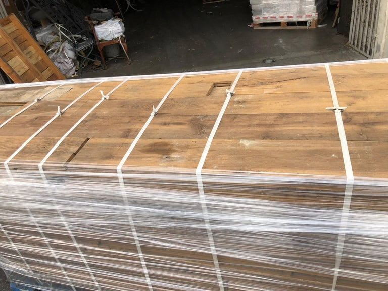 Original French Antique Solid Wood Oak Flooring, France, 18th Century For Sale 1
