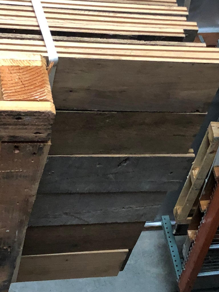 Original French Antique Solid Wood Oak Flooring, France, 18th Century For Sale 3