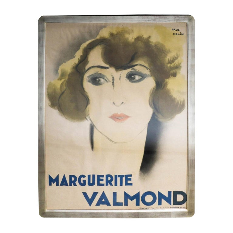 Original French Art Deco Period Poster by Paul Colin, 1928 For Sale