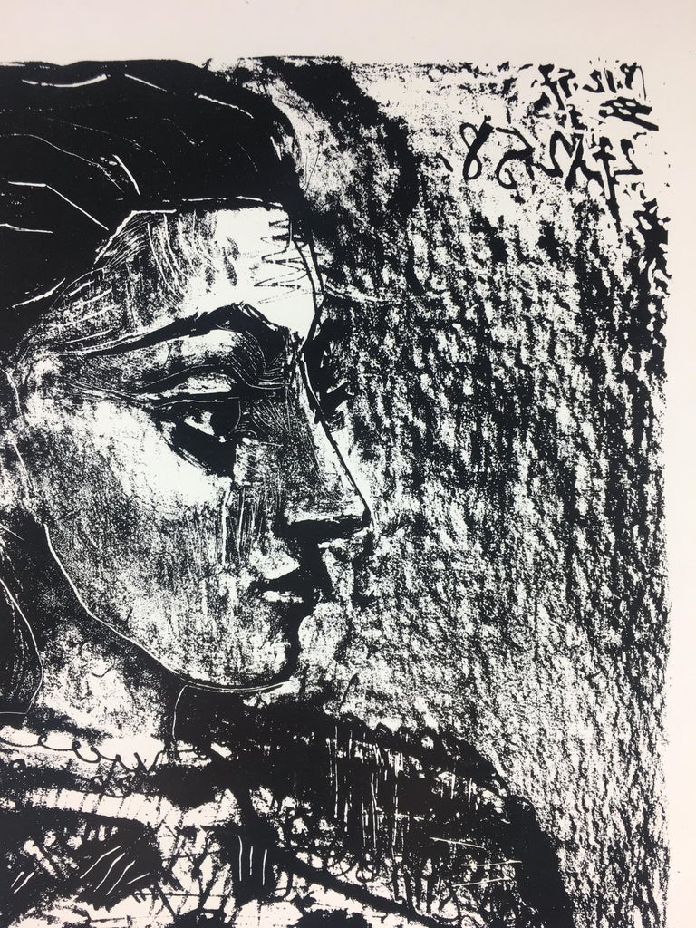 Mid-Century Modern Original French Art Exhibition Poster, Picasso