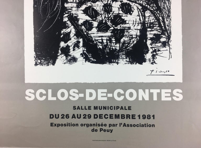 20th Century Original French Art Exhibition Poster, Picasso