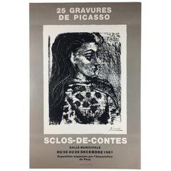 Original French Art Exhibition Poster, Picasso