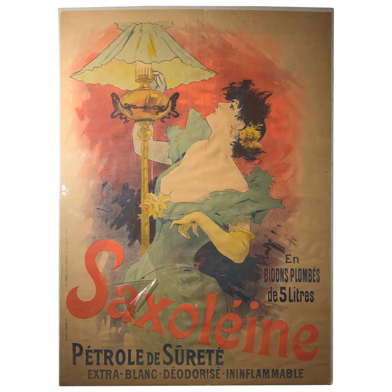 Original French color lithograph poster for Saxoléïne by Jules Chéret, 1892
