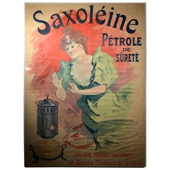 Original French color lithograph poster for Saxoléïne by Jules Chéret, 1900