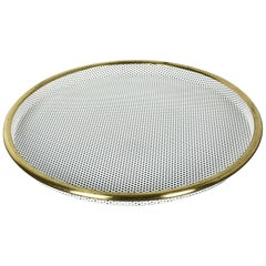 """Original French Metal Tray """"Rigituelle"""" in Style of Mathieu Mategot, 1960s"""