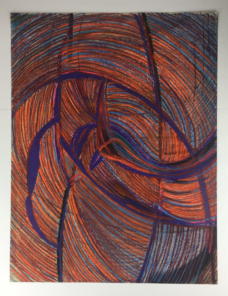 French Original Midcentury Abstract Painting, Signed from Estate of James Baldwin For Sale