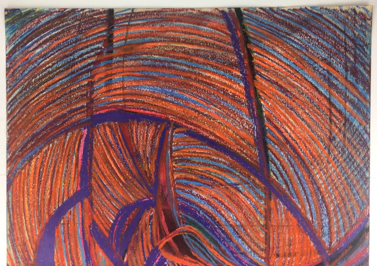 Original Midcentury Abstract Painting, Signed from Estate of James Baldwin In Good Condition For Sale In Arles, FR