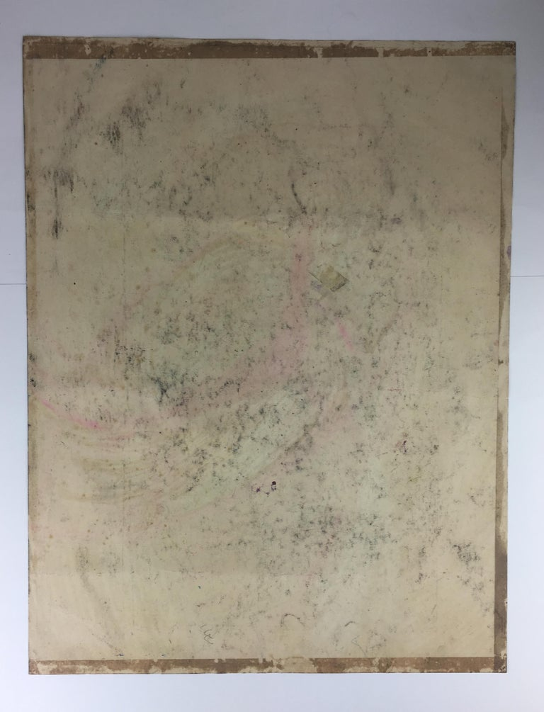 20th Century Original Midcentury Abstract Painting, Signed from Estate of James Baldwin For Sale