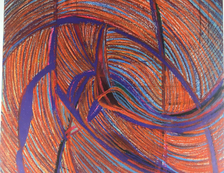 Paper Original Midcentury Abstract Painting, Signed from Estate of James Baldwin For Sale