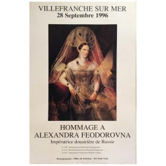 Original French Poster Hommage to Empress Alexandra Feodorovna of Russia