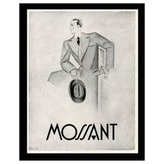 Original French Print Advert for Hats, circa 1929