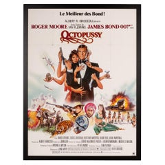 Original French Release James Bond 'Octopussy' Poster, 1983