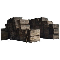 Original French Solid Wood Oak Planks from France, Late 20th Century