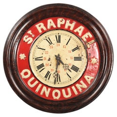 Original French St Raphael Quinquina Advertising Wall Clock, Fully Working