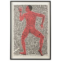 "Original Gallery Poster by Keith Haring ""into 84, Tony Shafrazi Gallery"