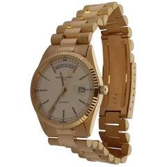 Original Genève Day Date Style 18 Karat Solid Gold Wristwatch President Bracelet