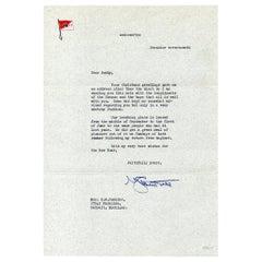 Original George C. Marshall Signed Letter to E. M. Jenkins, 1942