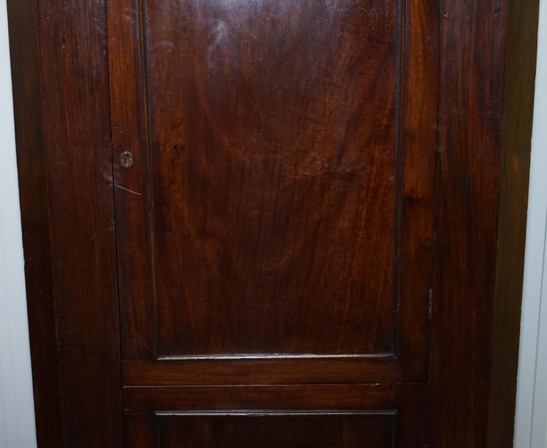 Original George III circa 1760 Solid Mahogany Corner Cupboard Large Bookcase For Sale 2