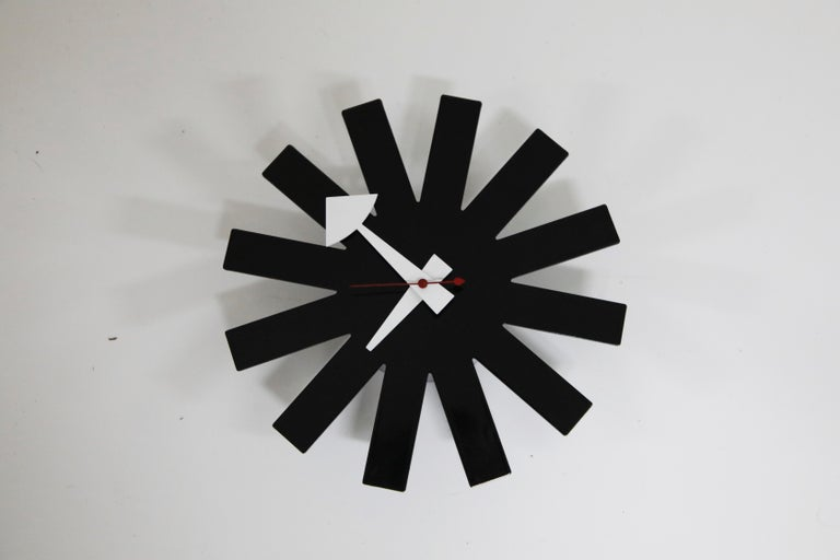 Original George Nelson for Howard Miller Black 'Asterisk' Wall Clock, circa 1960 For Sale 3