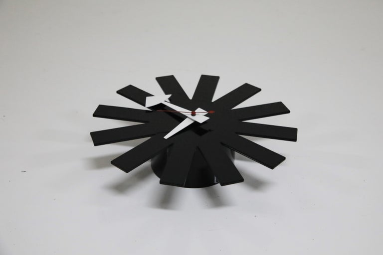 Original George Nelson for Howard Miller Black 'Asterisk' Wall Clock, circa 1960 For Sale 6