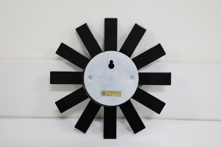 Original George Nelson for Howard Miller Black 'Asterisk' Wall Clock, circa 1960 For Sale 7