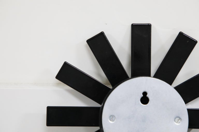 Original George Nelson for Howard Miller Black 'Asterisk' Wall Clock, circa 1960 For Sale 8