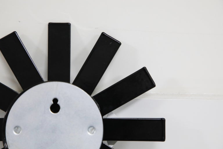 Original George Nelson for Howard Miller Black 'Asterisk' Wall Clock, circa 1960 For Sale 9