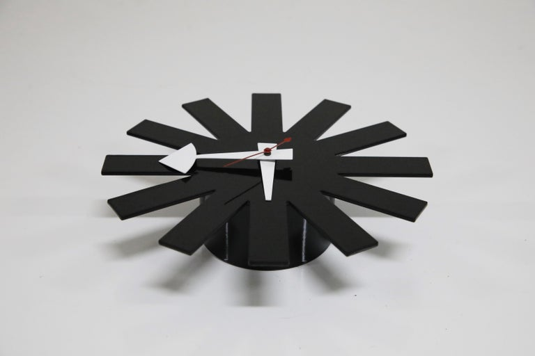 Steel Original George Nelson for Howard Miller Black 'Asterisk' Wall Clock, circa 1960 For Sale