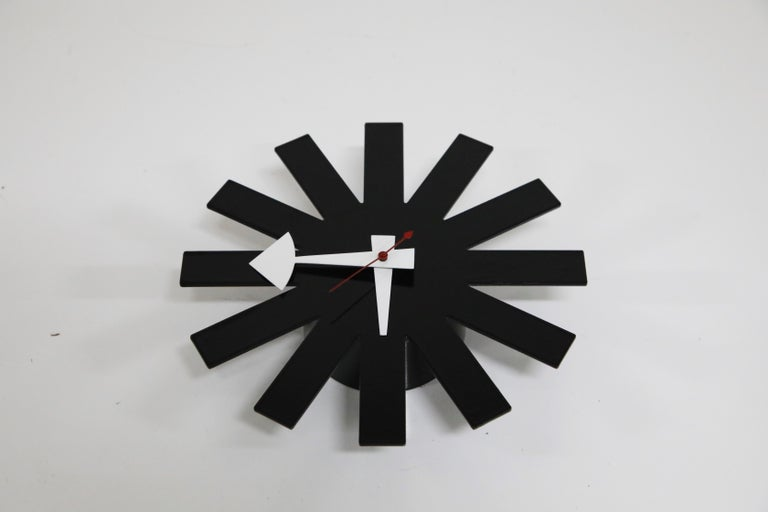 Original George Nelson for Howard Miller Black 'Asterisk' Wall Clock, circa 1960 For Sale 1