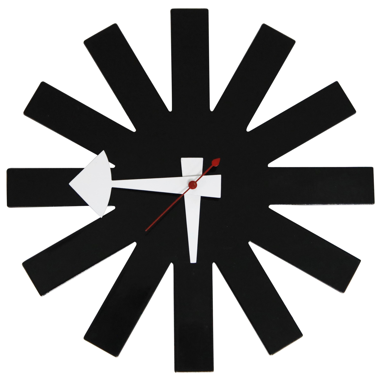 Original George Nelson for Howard Miller Black 'Asterisk' Wall Clock, circa 1960