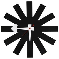 Original George Nelson for Howard Miller Black 'Asterisk' Wall Clock, circa 1960