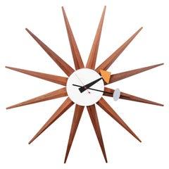 Original George Nelson for Howard Miller Midcentury Sunburst Spike Clock, 1950s
