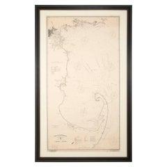 "Original George W. Eldridge ""Chart of Chatham to Boston"" Dated 1902"