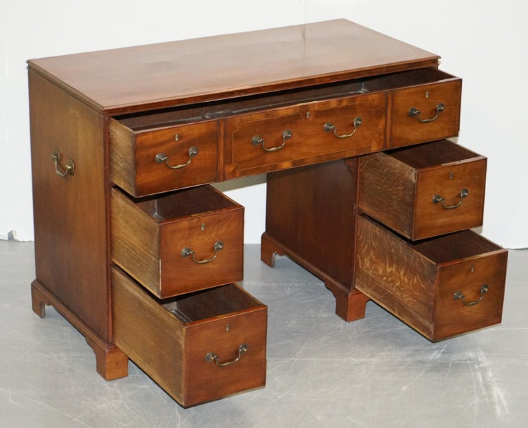 Original Georgian / Regency Military Campaign Desk with Large Map Drawer  For Sale 12