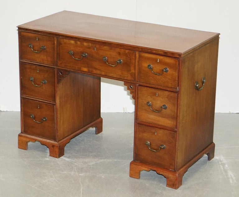English Original Georgian / Regency Military Campaign Desk with Large Map Drawer  For Sale