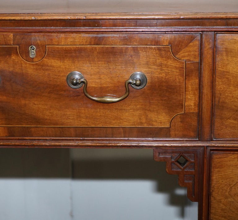 Original Georgian / Regency Military Campaign Desk with Large Map Drawer  For Sale 1