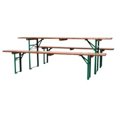 Original German Beer Garden Table and Bench Sets