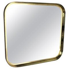 Original German Modernist wall brass Mirror Vereinigte Werkstätten München 1950s