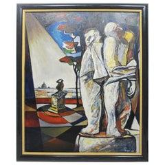 Original Giorgio Luppi Expressionism Oil Painting