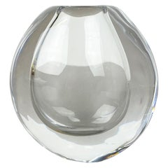 Original Göran Wärff Drop 2,1kg Glass Object Vase for Kosta Boda AB Sweden, 1960