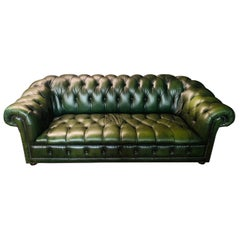 Original Green Chesterfield Sofa from the 80's