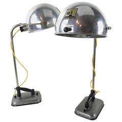 Original Hanau Bauhaus Globe Table Lamp, Alloy & Bakelit, 1930s, Germany