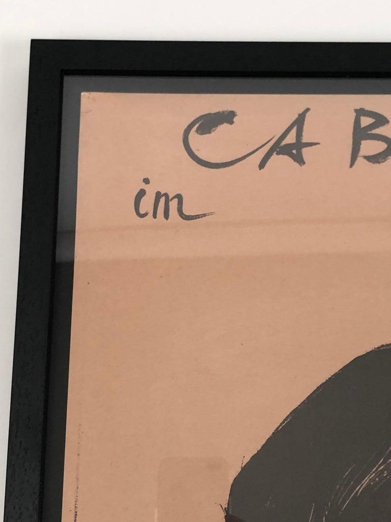 Original Swiss Black Cat Cabaret Poster, circa 1949 For Sale 2