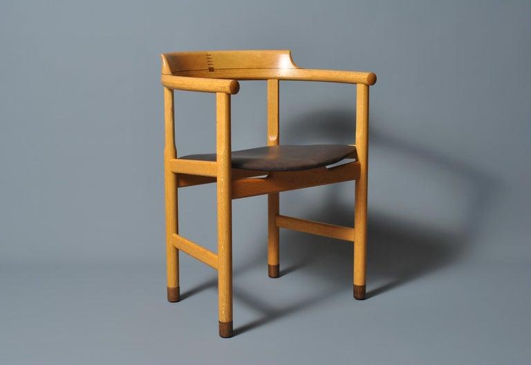 Mid-Century Modern Original Hans J Wegner PP52 Chair For Sale