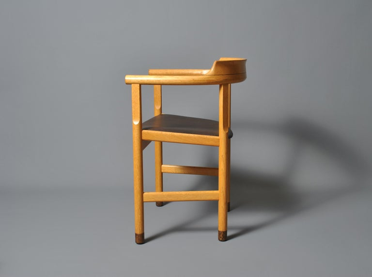 Oak Original Hans J Wegner PP52 Chairs For Sale