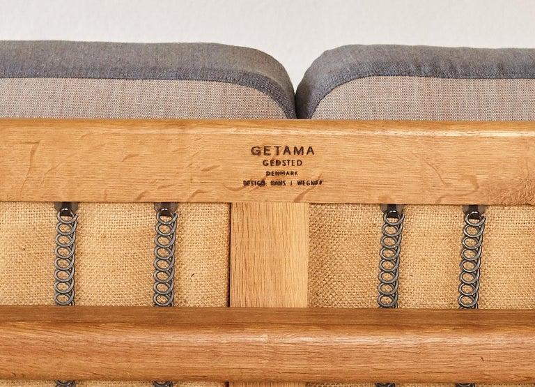 Original Hans Wegner GE-240 Cigar Sofa, Denmark, 1960s For Sale 7