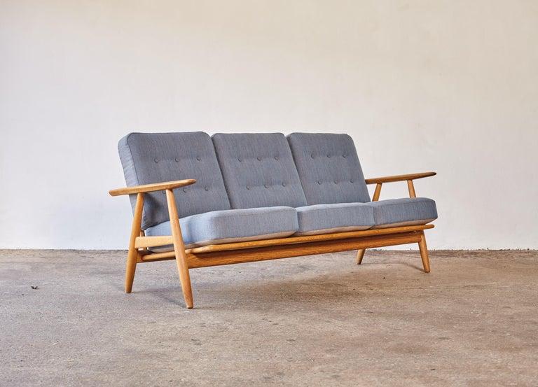 Fabric Original Hans Wegner GE-240 Cigar Sofa, Denmark, 1960s For Sale