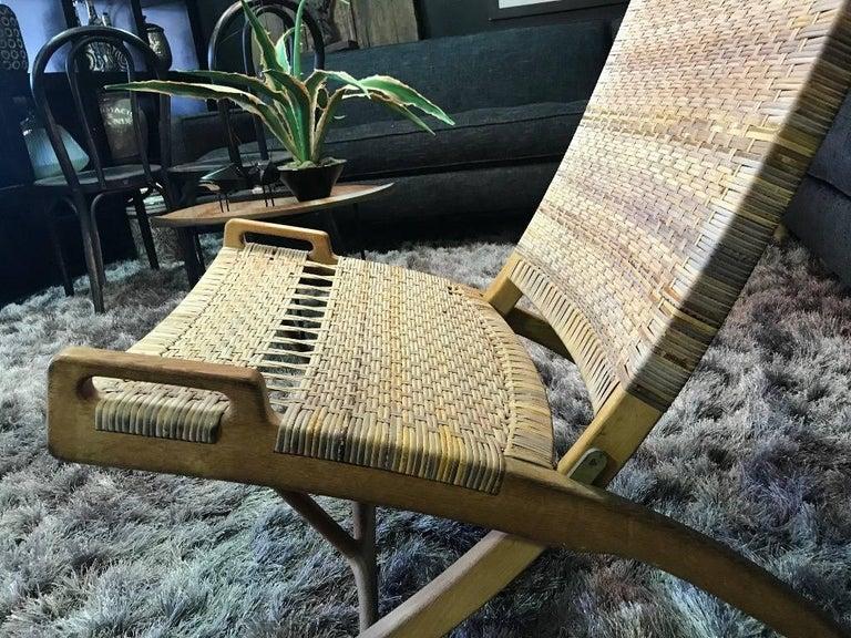 Hans Wegner Midcentury Original Classic JH-512 Folding Lounge Chair, 1950s For Sale 6