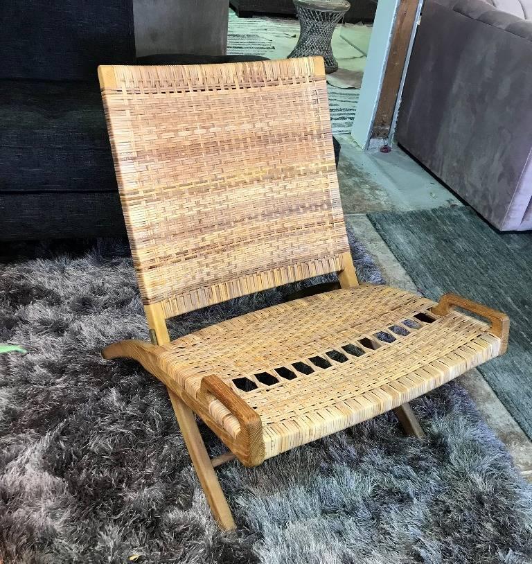 Mid-Century Modern Hans Wegner Midcentury Original Classic JH-512 Folding Lounge Chair, 1950s For Sale